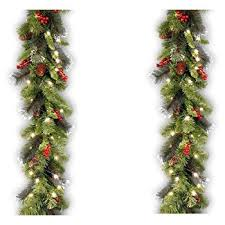 9 foot christmas tree national tree 9 foot by 10 inch frosted berry garland