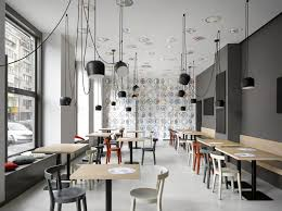 Cafe In Prague Proves Minimalist Interiors Can Be Playful Freshome - Modern cafe interior design