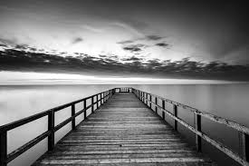 wallpaper jetty black and white wall mural water happywall