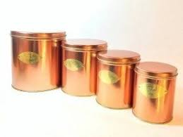 copper canisters kitchen copper canister sets foter