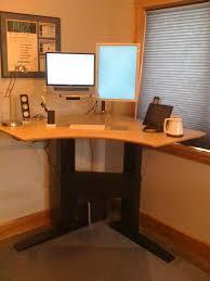 Stand Up Corner Desk Build Standing Desk Homesfeed For Corner Standing Desk Prepare