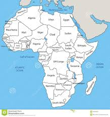 Nigeria Africa Map by Africa Vector Map Stock Photos Image 34930593