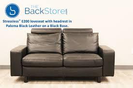 Loveseat Black Leather Stressless E200 Loveseat Sofa In Paloma Black Leather By Ekornes