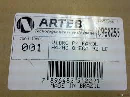 opel brazil стекло фары левой gm opel omega a 86 96 arteb 0960255 фара с