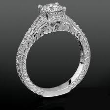 carved engagement rings artistic carved design split shank diamond engagement ring