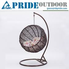 Indoor Hanging Swing Chair Egg Shaped Hammock Rattan Swing Hanging Chair Suspension Seat Lounge Egg