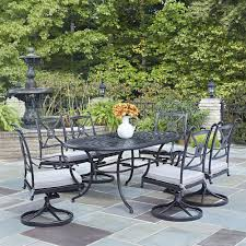 7 Piece Round Patio Dining Set by Home Styles Largo 7 Piece Patio Dining Set 5561 37586 The Home Depot