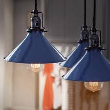 Cone Pendant Light Blue Cone Shade Industrial Loft Pendant Light Tudo And Co