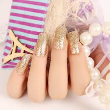 glitter fake nails picture more detailed picture about new pale