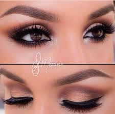 neutral toned eyes and winged eye liner so pretty for my brown