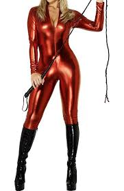 amazon com love lingerie womens pvc look lycra catsuit various
