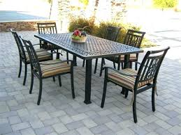Aluminum Patio Dining Table Lovely Aluminum Patio Dining Set For Swivel Chair Patio