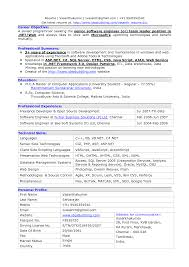 Resume Summary Software Engineer Cover Letter Software Professional Resume Samples Experienced