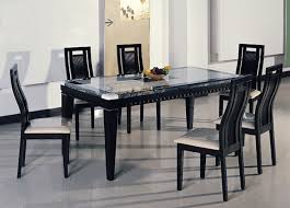 Espresso Dining Room Set by Marble Tables Off White Marble Table With Chairs