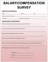 free salary survey template