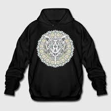 tiger mandala hoodie spreadshirt