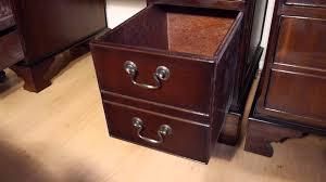 Mahogany Filing Cabinet Antique Style Mahogany Pedestal Writing Desk Filing Cabinet