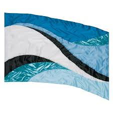 Blue White And Black Flag In Stock Color Guard Flag Fls154 Band Shoppe