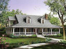 ranch style house plans with wrap around porch wrap around porch house plans craftsman front elevation plan 509