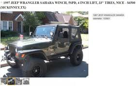 1997 jeep wrangler problems check out this s craigslist ad for his jeep wrangler