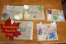 thanksgiving crafts for placemats events to celebrate