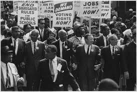 civil rights march on washington d c leaders marching from the