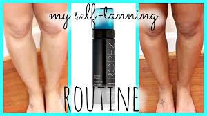 my self tanning routine ft st tropez dark bronzing mousse