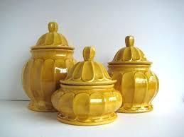 yellow kitchen canisters yellow kitchen canister set semenaxscience us