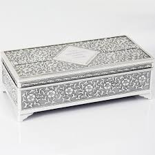 Personalised Jewelry Box Personalised Antique Silver Plated Jewellery Box Peach Gifts Ltd