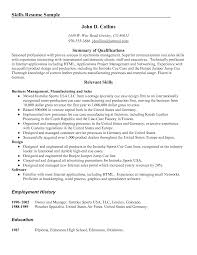 skill resume sle carbon materialwitness co