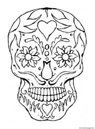 free printable sugar skull coloring pages printable