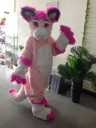 Halloween Costumes Animal by Customized Pink Fursuit Husky Wolf Fox Mascot Costume Animal Suit