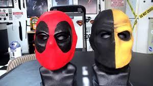 deathstroke costume halloween deadpool u0026 deathstroke masks 2013 youtube