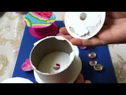 empty ribbon spools recycled jewelry box