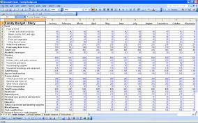 Financial Spreadsheet Family Budget Templates 15 Free Personal Budget Spreadsheet Excel