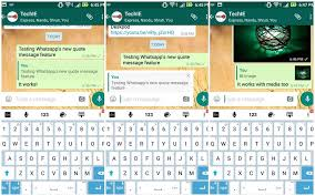 whatsapp for android to get message quotes feature here u0027s how it