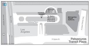 Union Station Los Angeles Map by Patsaouras Transit Plaza Union Station Los Angeles