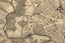 Topographic Map Of Washington by Bomford Lindsay And Smith The Early Vineyards Of Washington Dc