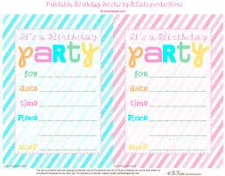 party invitations free printable birthday party invitations free