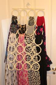 How To Hang Scarves On Curtain Rods by 10 Awesome Ways To Organize Your Scarvesliving Rich With Coupons