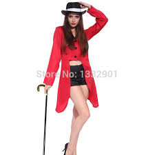 Lion Tamer Halloween Costume Womens Circus Ringmaster Lion Tamer Costume Tuxedo Tail Jacket