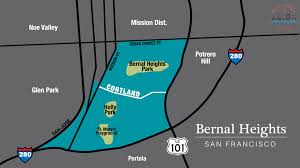 Sf District Map Bernal Heights Bay Area Drop In