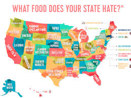 4 Corner States Map by Map Shows The Most Hated Foods In America Business Insider