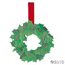 advent wreath kits christmas wreath craft kit we could cut these leaves with