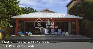 St Petersburg Fl Beach House Rentals by Villa For Rent In St Pete Beach Iha 77957