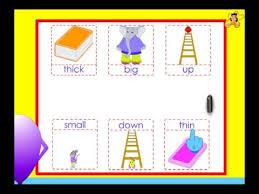kindergarten opposites worksheet youtube