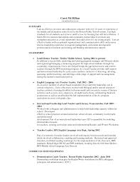Elementary Education Resume Sample by Resume Examples Math Teacher Templates