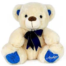 teddy bears blue bow teddy 30 cm at best prices in india