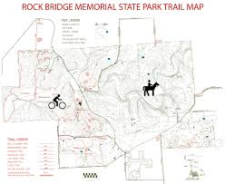 State Park Map by Gearinches Com Rock Bridge Memorial State Park Map