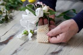how to make wrist corsage diy flower wrist corsage the bijou